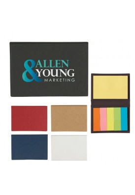 Business Card Size Hard Case with Sticky Notes and Flag