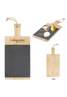 Classic Black Slate and Bamboo Wood Cheese and Charcuterie Board