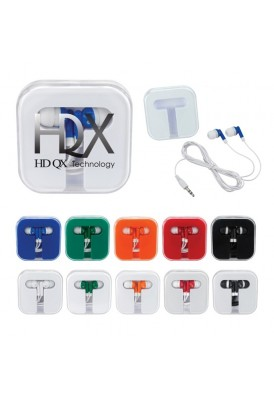 Square Rounded Earbuds Color Play Case
