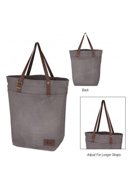 Trendy Waxed Canvas Large Utility Tote Bag