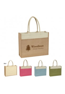 100% Pure Natural Jute Rectangular Tote Bag
