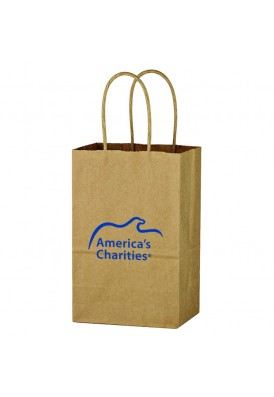 Kraft Shopper Tote Vertical 8.25 Tall (Case of 250pcs)