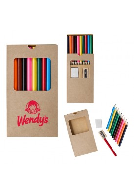Boxed 10 Colored Pencils Set in Kraft Box