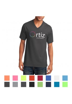 Port & Company® Core V-Neck Cotton Colored T-Shirt LT-WGT