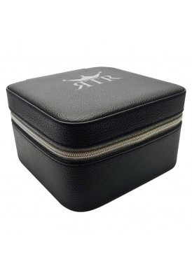 Deluxe Leatherette Jewelry Travel Case with Inside Mirror