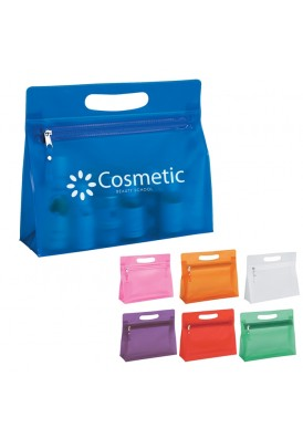 Simply Translucent Colored Zippered Pouch and Cosmetics Case