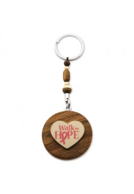Custom Eco Wood Key Chains 2""