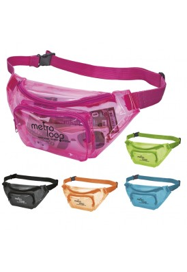 Colorplay Translucent Designer Colorful Fanny Pack