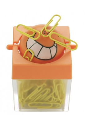 Smiley Paper Clip Dispenser