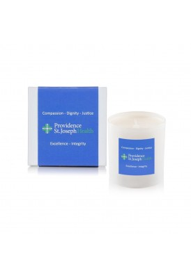 Premium High End 11 Oz White Glass Candle with Box Wrap - PHE