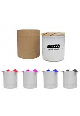 9 Oz White Candle with Lid and Gift Box - PMOD II (PREMIUM MODERN II)