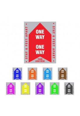 Removable COVID-19 Floor Social Distancing Decal Arrow Sign 11x8.5