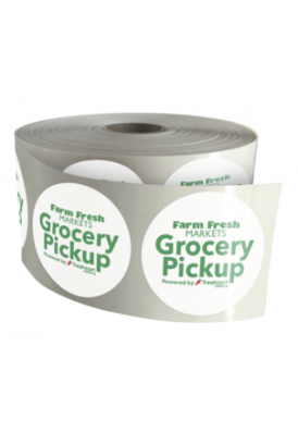 Rush 2 Day Roll Labels in 1 Inch Round Shape