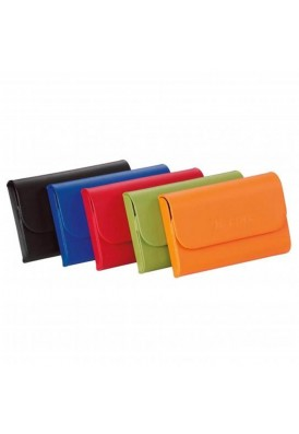 Melody Leatherette Metal Business Card Holder