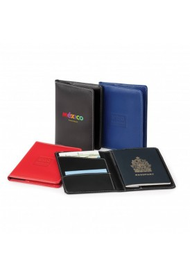 Sleek Vinyl Passport Holder