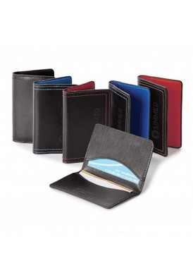 Color Accent Leather Card Holder