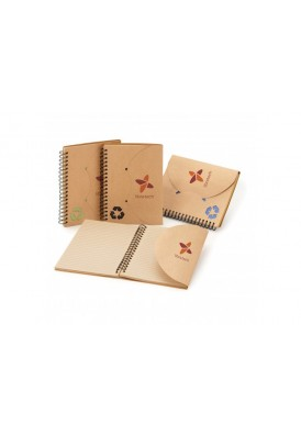 Eco Natural Spiral Notebook Flap Closure
