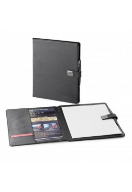 Robertson Full Size Vinyl Skinny Portfolio with Elegant Flap Closure