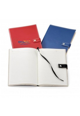 Soft Leatherette Accent Stitch Journal Snap Closure