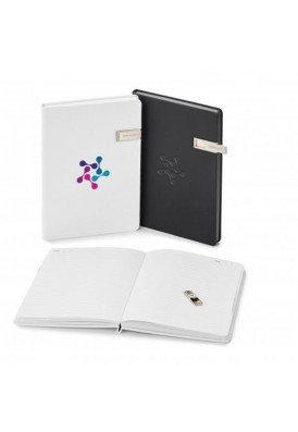 Hard Cover Leatherette Journal with 4GB USB Flash