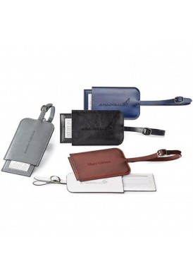 Premium Italian Leatherette Executive Luggage Tag
