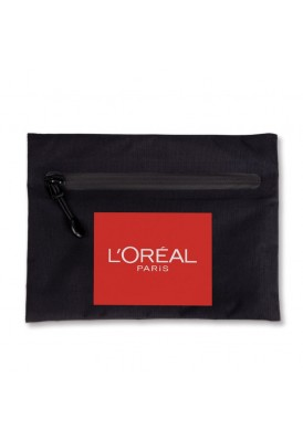 Water Resistant Portable Zippered Pouch for Travel or Cosmetics