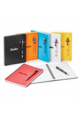 Franky Pen Highlighter Combo with 6 x 8 White Notebook