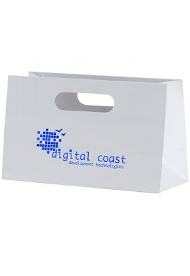 Premium Weight Matte Retail Tote with Die Cut Handles Horizontal 10 Wide