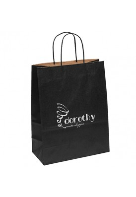 Colored Matte Paper Foil Imprint Tote Vertical 13 Tall