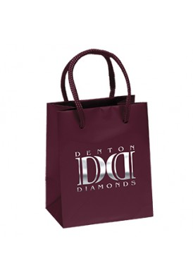 Premium Weight Gloss Retail Shopper Tote Vertical 5.5 Tall