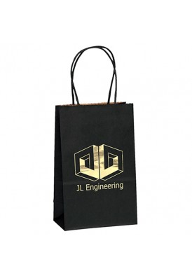 Colored Matte Paper Foil Imprint Tote Vertical 8.25 Tall