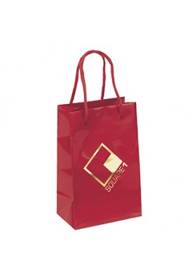 Premium Weight Gloss Retail Shopper Tote Vertical 8.25 Tall