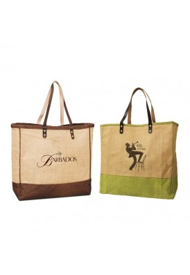Resort Totes in Laminated Jute and Leather II