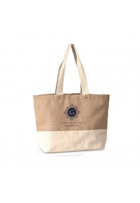 Canvas and Jute Two-Tone Designer Beach Bag
