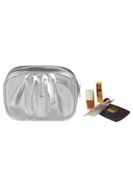 Metallic Designer Pleated Cosmetics Bag