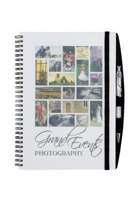 Large Full Color Translucent Poly Cover 10 x 7.75 Notebook
