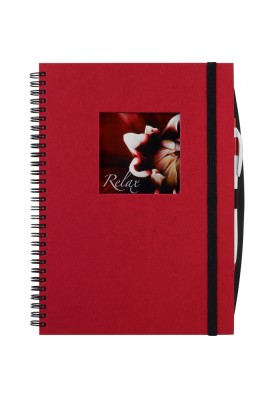 Large Full Color Die Cut Window Hard Cover 10 x 7.75 Notebook