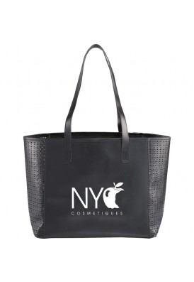 Chic Extreme Waterproof Vinyl Patterned Die Cut Tote Faux Croc Tote Bag with Signature Liner