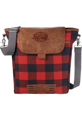 Field & Co. Branded Flannel 15 In Laptop Messenger