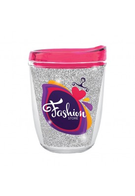 12 Oz Bling Double Wall Insulated Acrylic Tumbler