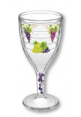 12 Oz Wine Sippy Cup with Colored Beads and Full Color Imprint