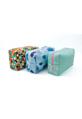 Premium Thick Leatherette Dopp Kit Travel Bag in Full Color Printing