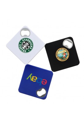 Combo Square Coaster and Bottle Opener