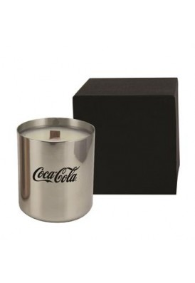 Metallic Silver Candle Gift with Wooden Wick - PMOD (Premium Modern)