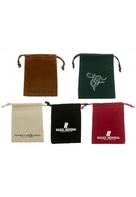 Printed Velour Custom Drawstring Pouch 3x4