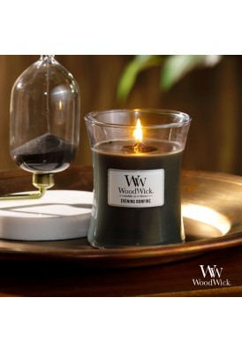 9.7 Oz WoodWick Branded Hourglass Candle with Lid