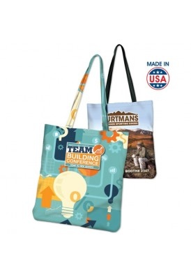 Full Color Sublimated Flat Tote 14x14