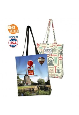 Full Color Sublimated Gusseted Tote 16.5x16.5x3