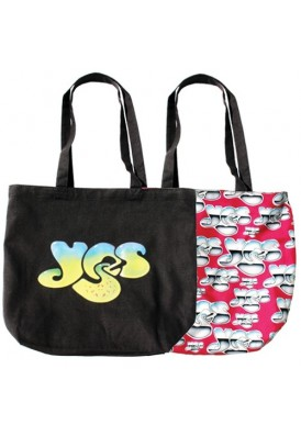 Reversible Black Canvas Tote with Colorful Custom Liner
