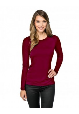 Colette Ultra Soft Jersey Long Sleeve Crew Shirt